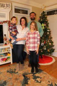 Whitney Bengson Family Photo in front of Christmas Tree