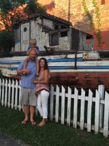 Walton County Locals now, Tovah and family pose in front of Pickett fence