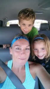 after gym selfie with the kids