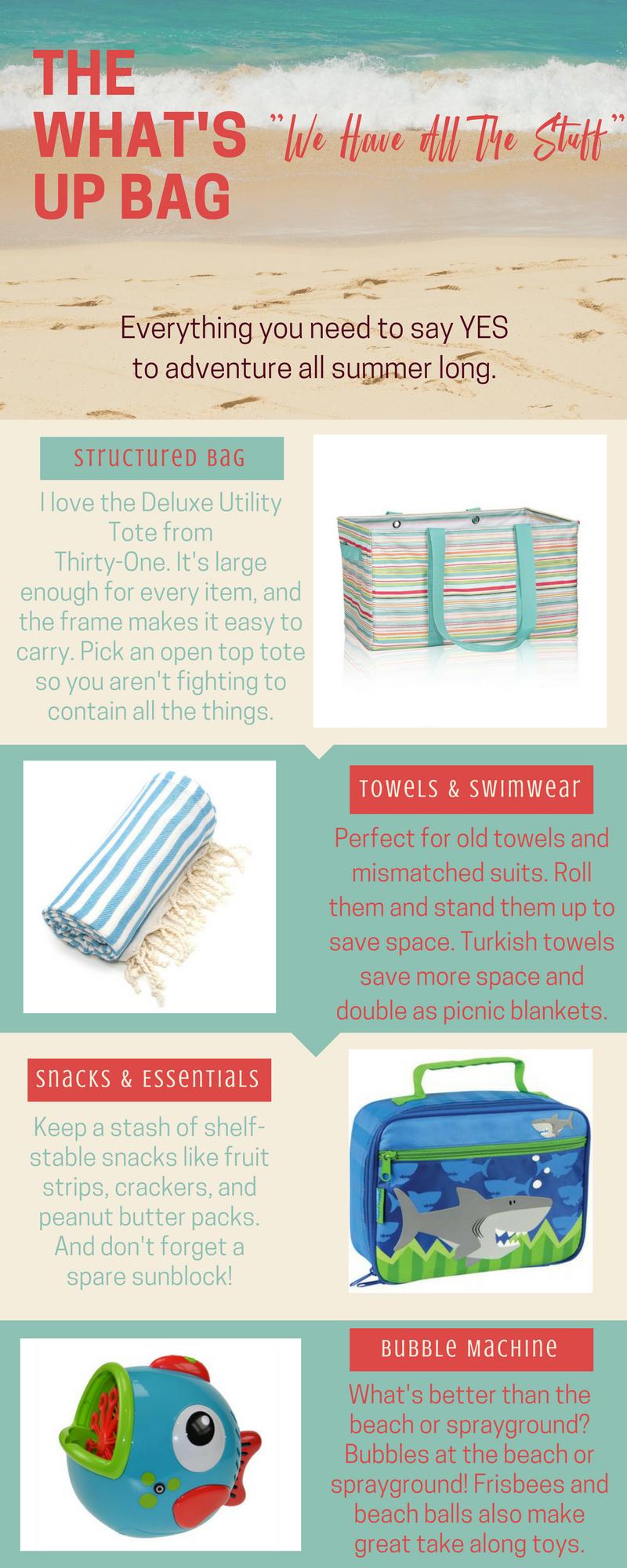 What's Up Bag for Summer //Destin30AMomsBlog