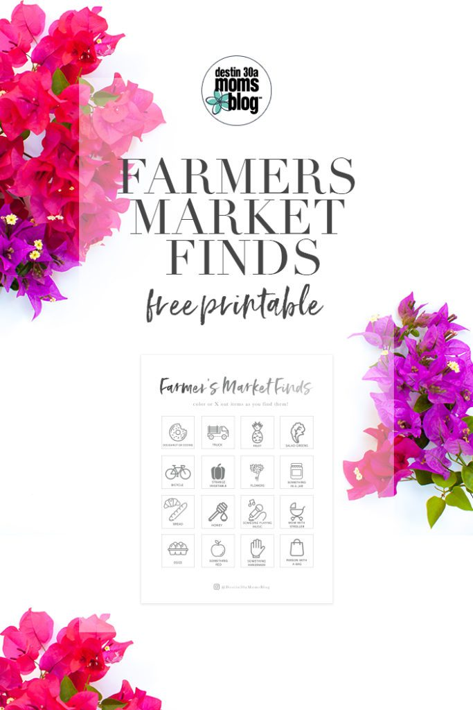 Farmers Market Printable