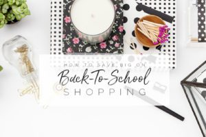 Save Big Back To school Shopping