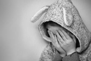 girl feeling sad over bullying