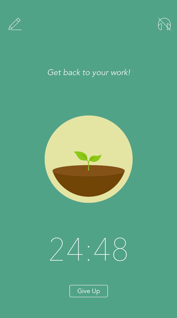 forest app screen shot