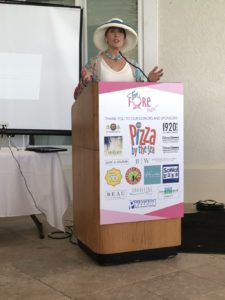 Terri Fedonczak at Tea Fore Her Luncheon