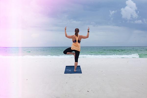 Doing Yoga on the Beach_ Destin 30a Moms
