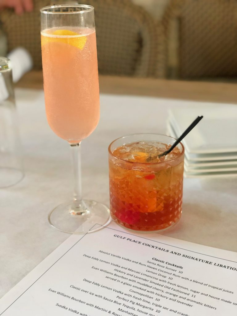 Blushing 75 and Old Fashioned at The Perfect Pig