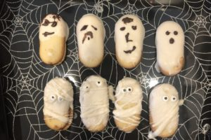 Cooking with Kids-Ghost and Mummy Cookies