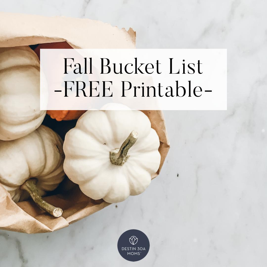 destin 30a fall bucket list